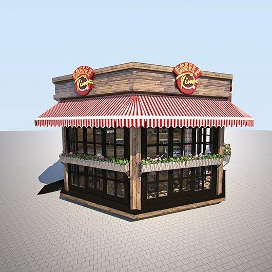 Дизайн экстерьера придорожного кафе