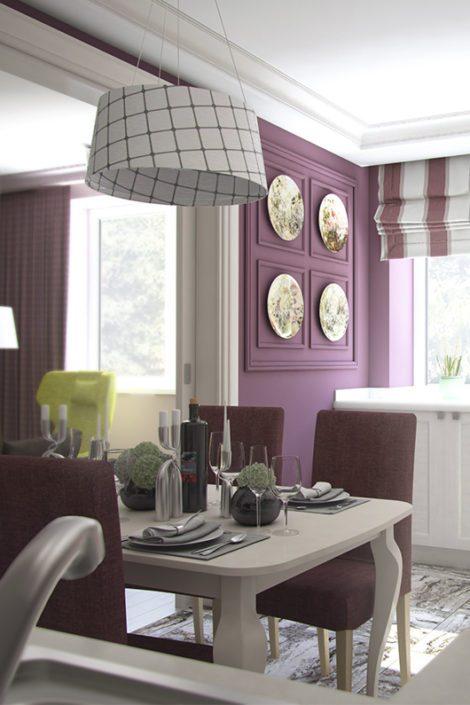 Интерьер квартиры цвета сакуры