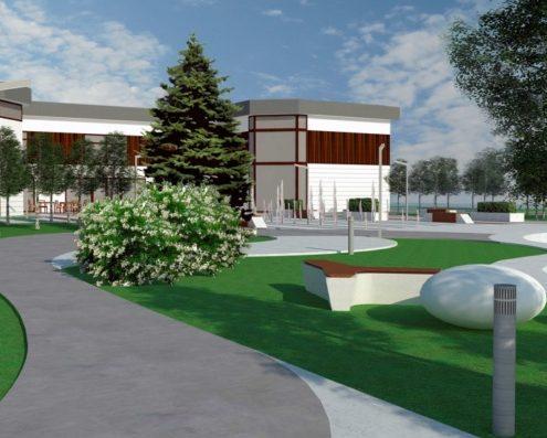 Проект благоустройства и озеленения коттеджного поселка.