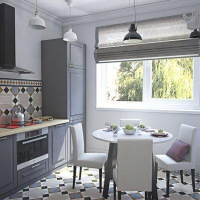 Дизайн проект квартиры в бирюзовых тонах