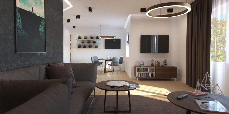 Дизайн интерьера трехкомнатного пентхауза Люнен, Германия
